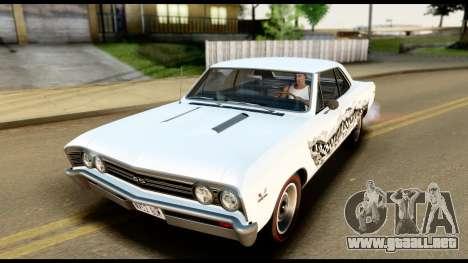 Chevrolet Chevelle SS 396 L78 Hardtop Coupe 1967 para las ruedas de GTA San Andreas