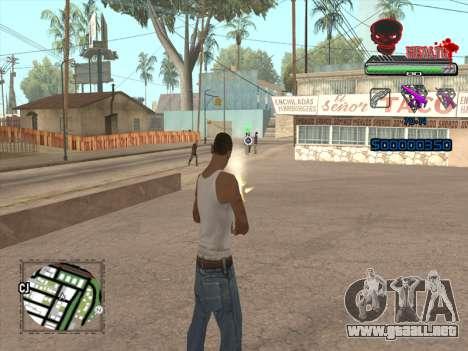 C-HUD by VinC para GTA San Andreas sucesivamente de pantalla