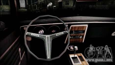 Chevrolet Camaro 350 para la visión correcta GTA San Andreas