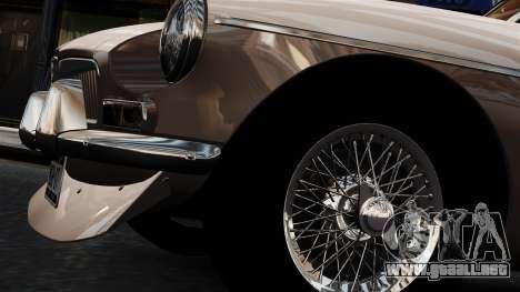 MGB GT 1965 para GTA 4 vista hacia atrás
