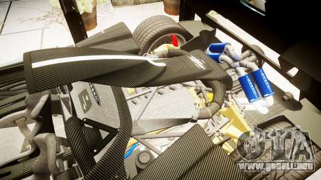 Pagani Zonda Cinque Roadster 2010 para GTA 4 vista interior