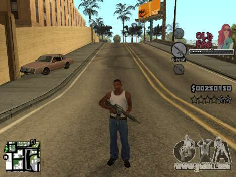 C-HUD Universal v2 para GTA San Andreas sucesivamente de pantalla