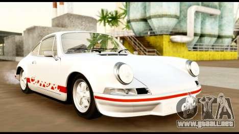 Porsche 911 Carrera 2.7RS Coupe 1973 Tunable para visión interna GTA San Andreas
