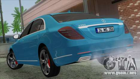 Mercedes-Benz S350 2015 Bluetec para GTA San Andreas left