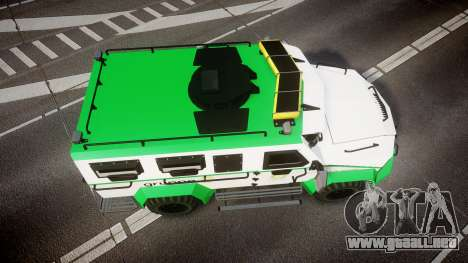 Gruppe6 Van [ELS] para GTA 4 visión correcta