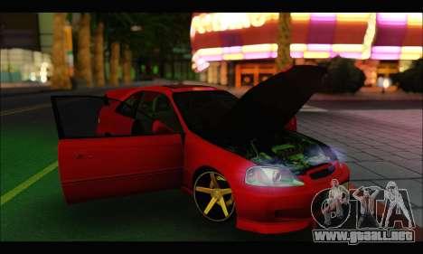 Honda Civic Si para la visión correcta GTA San Andreas