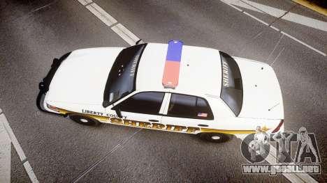 Ford Crown Victoria Sheriff Liberty [ELS] para GTA 4
