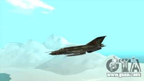 MiG 21 de la fuerza aérea Soviética para visión interna GTA San Andreas