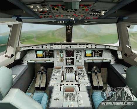 Airbus A380-800 Emirates (A6-EDH) para visión interna GTA San Andreas