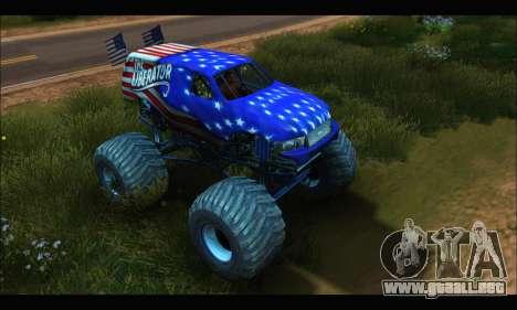 Monster The Liberator (GTA V) para GTA San Andreas left