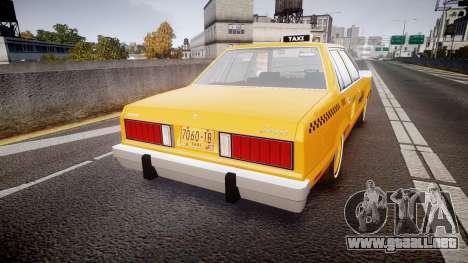Ford Fairmont 1978 Taxi v1.1 para GTA 4 Vista posterior izquierda