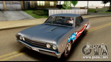 Chevrolet Chevelle SS 396 L78 Hardtop Coupe 1967 para GTA San Andreas interior