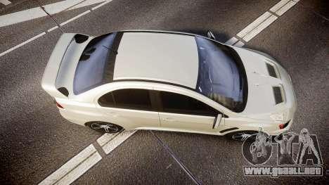 Mitsubishi Lancer Evolution X FQ400 para GTA 4 visión correcta