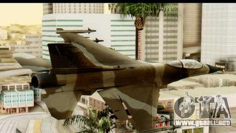 F-16 Fighter-Bomber Desert Camo para GTA San Andreas left