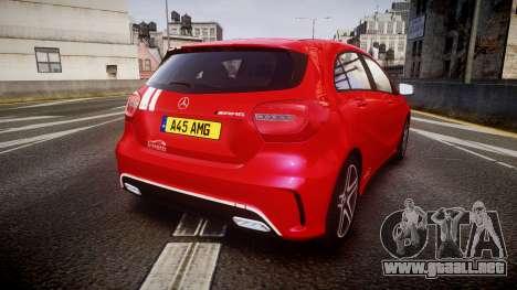 Mersedes-Benz A45 AMG PJs2 para GTA 4 Vista posterior izquierda
