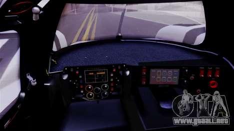 Porsche 919 Hybrid 2014 para GTA San Andreas vista hacia atrás