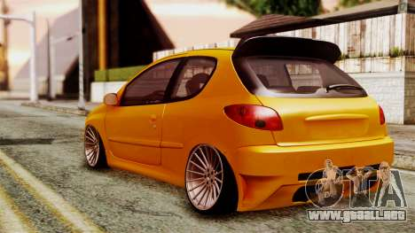 Peugeot 206 Camber Style para GTA San Andreas left