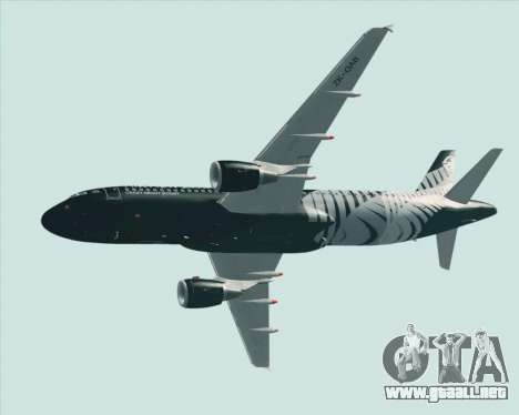 Airbus A320-200 Air New Zealand para las ruedas de GTA San Andreas