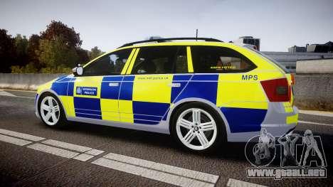Skoda Octavia Combi vRS 2014 [ELS] Traffic Unit para GTA 4 left