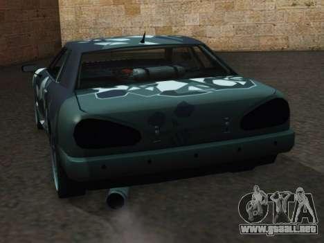Elegy Korch para GTA San Andreas vista posterior izquierda