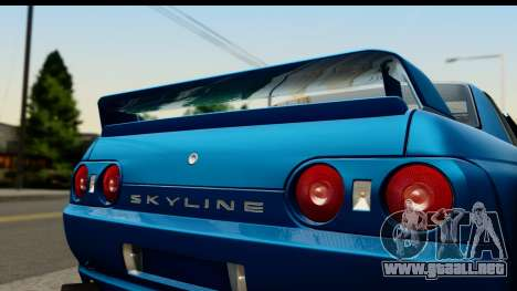 Nissan Skyline R32 Targa para GTA San Andreas vista posterior izquierda