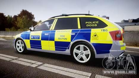 Skoda Octavia Combi vRS 2014 [ELS] Dog Unit para GTA 4 left
