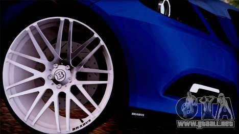 Brabus 900 para GTA San Andreas vista posterior izquierda