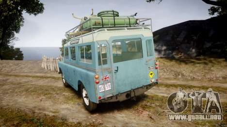 Land Rover Series II 1960 v2.0 para GTA 4 Vista posterior izquierda