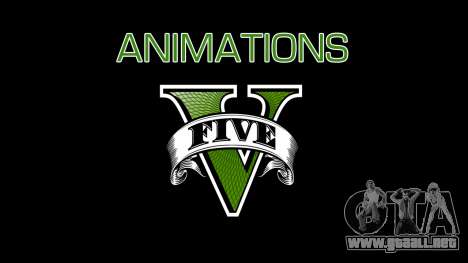 Animations GTA V para GTA San Andreas