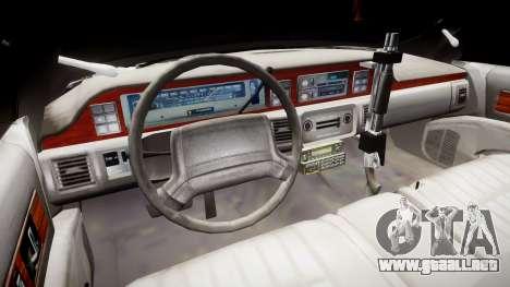 Chevrolet Caprice 1990 LCPD [ELS] Traffic para GTA 4 vista hacia atrás