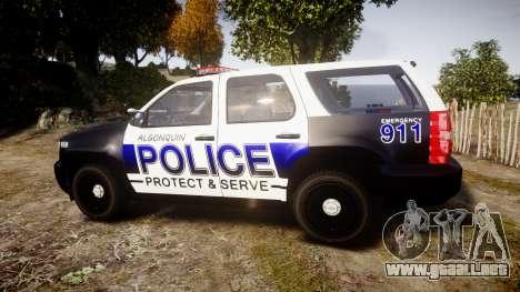 Chevrolet Tahoe 2010 Police Algonquin [ELS] para GTA 4 left