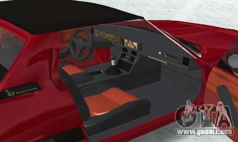 Fiat Bertone X1 9 para el motor de GTA San Andreas