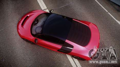 Audi R8 E-Tron 2014 dual tone para GTA 4 visión correcta
