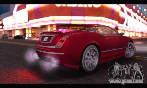 Enus Cognoscenti Cabrio (GTA V) para GTA San Andreas vista posterior izquierda