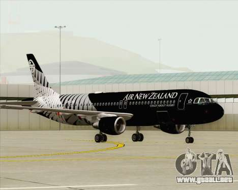 Airbus A320-200 Air New Zealand para visión interna GTA San Andreas