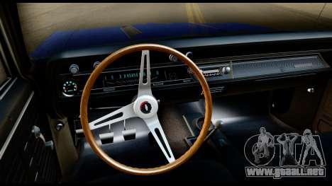 Chevrolet Chevelle SS 396 L78 Hardtop Coupe 1967 para visión interna GTA San Andreas
