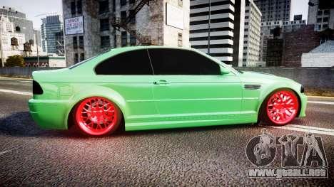 BMW M3 E46 Green Editon para GTA 4 left