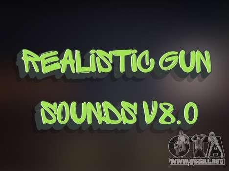 Realistic Gun Sounds v8.0 para GTA San Andreas