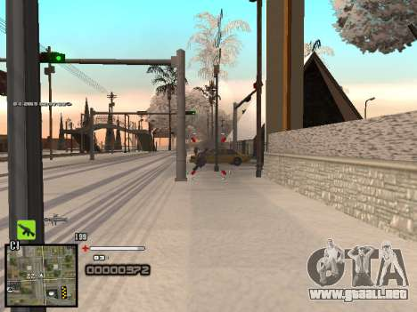 Un simple C-HUD para GTA San Andreas quinta pantalla