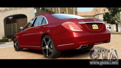 Mercedes-Benz S500 W222 para GTA 4 visión correcta