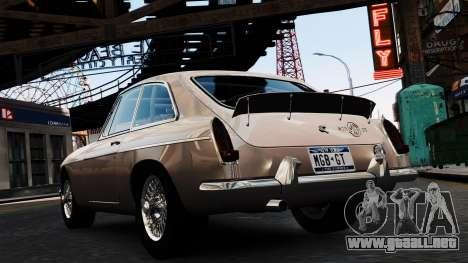 MGB GT 1965 para GTA 4 Vista posterior izquierda