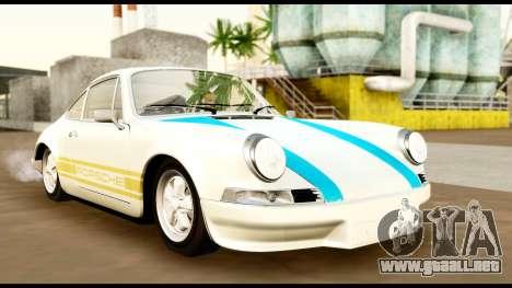 Porsche 911 Carrera 2.7RS Coupe 1973 Tunable para vista lateral GTA San Andreas