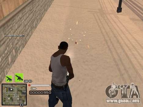 Un simple C-HUD para GTA San Andreas segunda pantalla