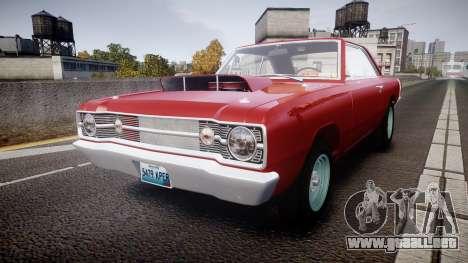 Dodge Dart HEMI Super Stock 1968 rims2 para GTA 4