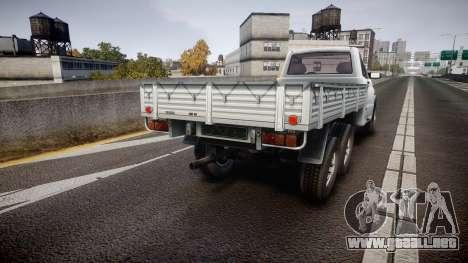 UAZ 2360 6x6 para GTA 4 Vista posterior izquierda