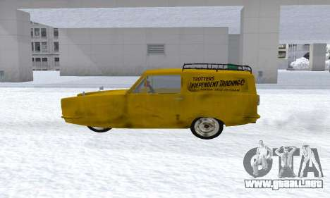 Reliant Supervan Only Fools and Horses para GTA San Andreas left