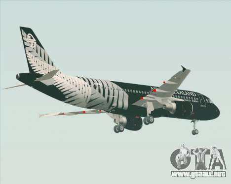 Airbus A320-200 Air New Zealand para la visión correcta GTA San Andreas