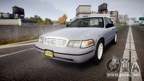 Ford Crown Victoria Unmarked Police [ELS] para GTA 4