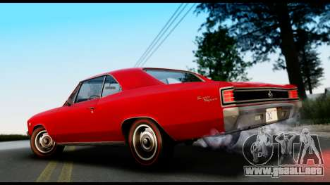 Chevrolet Chevelle SS 396 L78 Hardtop Coupe 1967 para GTA San Andreas left