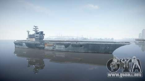 USS Flysenhower para GTA 4 segundos de pantalla